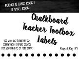 Teacher Toolbox Labels (Chalkboard)