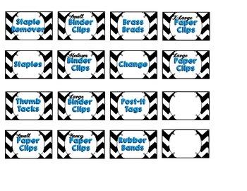 Teacher Toolbox Labels - Chevron