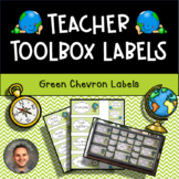 Teacher Toolbox Labels - Chevron Green Travel