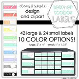 Teacher Toolbox Labels Clean and Simple
