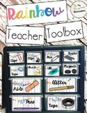 Teacher Toolbox Labels Clipart Rainbow Whitewash Classroom