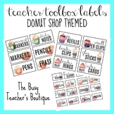 Teacher Toolbox Labels- Coffee Shop Themed EDITABLE