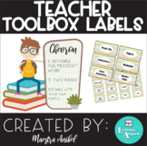Teacher Toolbox Labels - Colorful Chevron (Editable)