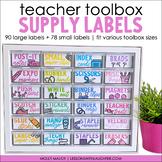 Teacher Toolbox Labels   Colorful Classroom Organization