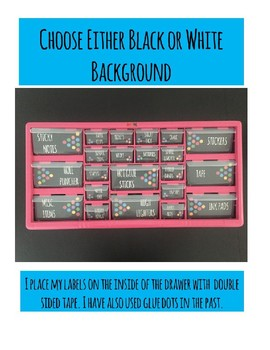 Teacher Toolbox Labels - Colorful & Editable