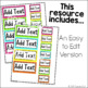Teacher Toolbox Labels (Colorful Edition) Printable and Editable Versions