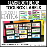 Teacher Toolbox Labels (Colorful Edition) Printable and Ed