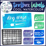Teacher Toolbox Labels {Cool Watercolor}