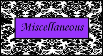 Teacher Toolbox Labels Damask Purple