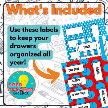 Teacher Toolbox Labels-Dr. Seuss Inspired Theme