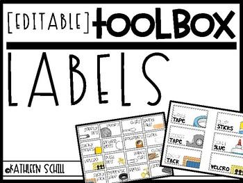 Teacher TOOLBOX Labels [EDITABLE]
