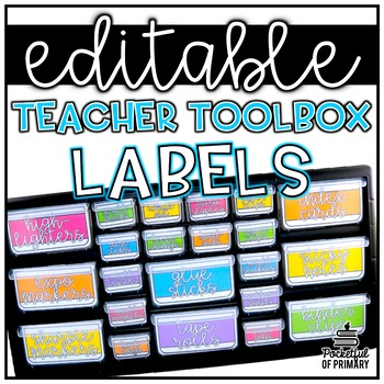 Teacher Toolbox Labels EDITABLE 3092542 on Lesson Plans Free Printables