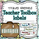 Teacher Toolbox Labels EDITABLE - Travel and Map theme