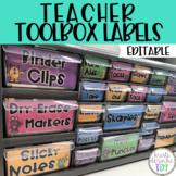Teacher Toolbox Labels - EDITABLE - Monster Theme