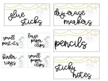 Teacher Toolbox Labels - EDITABLE - Shabby Chic