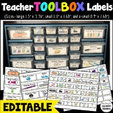 Teacher Toolbox Labels - EDITABLE Labels - Back To School