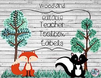 Teacher Toolbox Labels - EDITABLE - Woodland