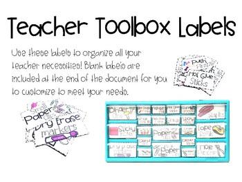 Teacher Toolbox Labels - Editable!