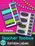 Teacher Toolbox Labels {Editable}