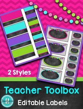 Teacher Toolbox Labels {Editable}