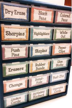 Editable TEACHER TOOLBOX Labels