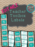 Teacher Toolbox Labels **Editable
