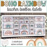 Teacher Toolbox Labels | Editable | Boho Rainbow