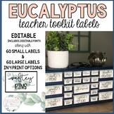 Teacher Toolbox Labels | Editable | Farmhouse | Eucalyptus