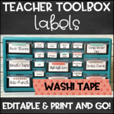 Teacher Toolbox Labels - Editable & Print and Go