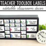 Teacher Toolbox Labels Editable Succulent Classroom Decor Cactus Classroom Decor