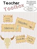 Teacher Toolbox Labels:  Editable     Tribal Theme