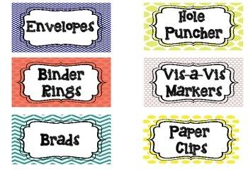 Teacher Toolbox Labels (FREEBIE!)