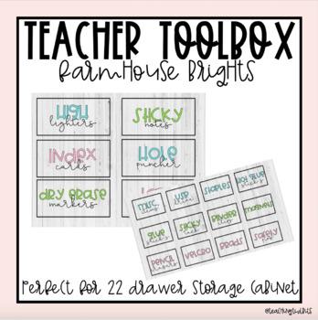 Teacher Toolbox Labels (Farmhouse Brights)