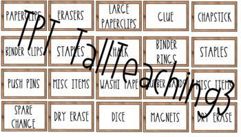 Teacher Toolbox Labels Farmhouse Rae Dunn Style