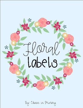 Teacher Toolbox Labels: Floral Theme