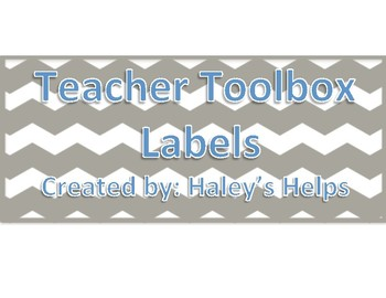 Teacher Toolbox Labels Freebie!
