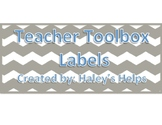 Teacher Toolbox Labels Freebie!