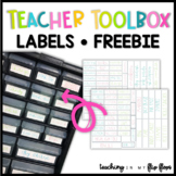 Teacher Toolbox Labels Freebie