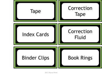 Teacher Toolbox Labels - Green