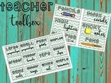 Teacher Toolbox Labels {Green Chevron}