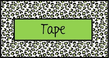 Teacher Toolbox Labels Green Leopard
