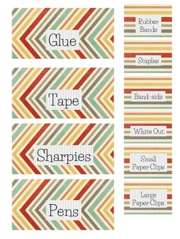 Teacher Toolbox Labels - Jewel tone diagonals