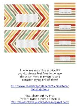 Teacher Toolbox Labels - Jewel tone diagonals
