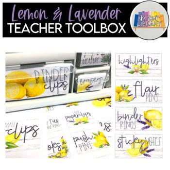 Teacher Toolbox Labels {Lemon & Lavender EDITABLE}