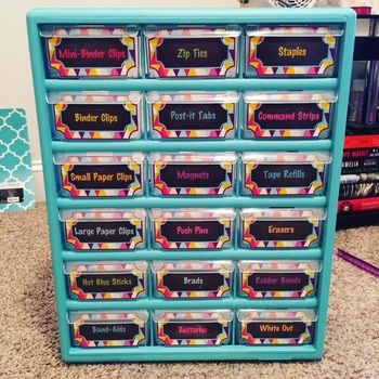 Teacher Toolbox Labels - Lilly Inspired - Colorful! Editable!
