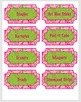 Teacher Toolbox Labels - Lilly Inspired! Editable!