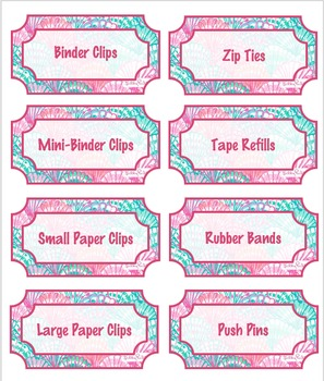 Teacher Toolbox Labels - Lilly Inspired - Shells - Editable!