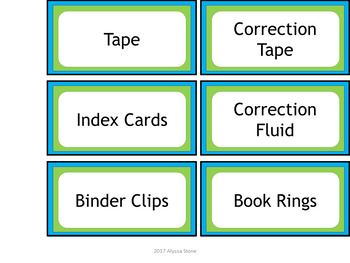 Teacher Toolbox Labels - Lime & Teal