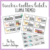 Teacher Toolbox Labels-Llama Themed