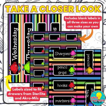 Teacher Toolbox Labels- Monster Theme